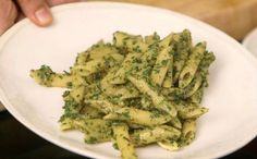 Beet Green Pesto - This pesto is made with the greens or tops of beets, instead of the traditional basil, and pistachios give it a nice earthy, green flavor. This is a quick and easy way to use up a food most people would usually throw away. Plus, it makes plain pasta really fancy (which makes it great to have around for weeknight dinners). Extra pesto can be kept in the fridge up to 1 week.