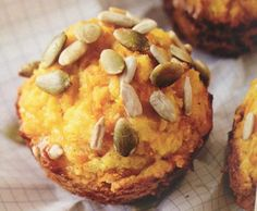 """Adapted from Pete Evans """"Family Food"""" by CarmelSabato - Recipe of category Baking - savoury(Paleo Pumpkin) Paleo Pumpkin Muffins, Savory Muffins, Pumpkin Recipes, Almond Recipes, Paleo Recipes, Cooking Recipes, Paleo Food, Free Recipes, Pete Evans Paleo"""