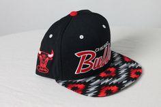 Custom Chicago Bulls Snapback  Aztec Fabric by KeyAcquisitions, $65.00