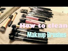 How to Deep Clean Makeup Brushes (w/out buying anything)..best how to for this topic
