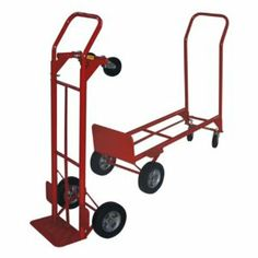 Milwaukee Convertible Hand Truck with Wheel Guard by Gleason - Milwaukee Hand Truck. $129.99. The Milwaukee Convertible Hand Truck with Wheel Guard helps get the job done faster and easier. With a hefty 600 lb. load capacity and convertible frame there's no job you can't handle. Measures 17L x 19.5W x 46H inches and rolls on 8-inch puncture proof tires.About Milwaukee Hand TruckThe trade name for products created and sold by Gleason Industrial Products Milwaukee Hand Trucks is...