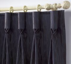 Some serious buckram makes these goblet pleats really stand out