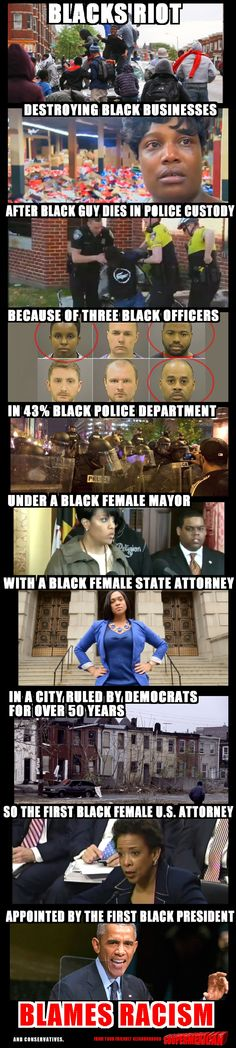 Riots in Baltimore explained, got your finger on the cause of all this mess yet?!?
