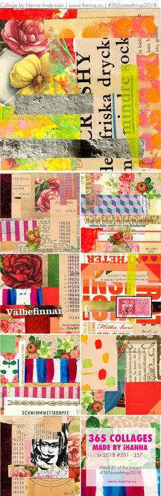 iHanna's 365 Collages 2018 Week 51 a. Hanna Anderson, Collage Making, Project 365, Collages, Mixed Media, Crafty, Creative, Projects, Blog