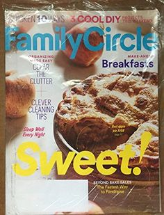 Family Circle September 2016 Sweet! Beyond Bake Sales