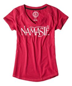 Life is good® Cherry Red Namaste Tech Vee Tee   zulily