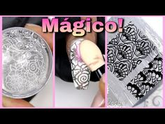 Nails Ivette - YouTube Stamping Nail Art, Stamping Plates, Manicure Y Pedicure, Nail Tutorials, Make It Yourself, Nails, Sweet, Chrome, Youtube