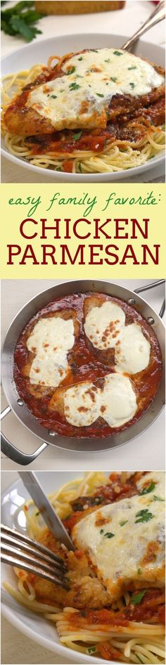 Our chicken parmesan recipe is comfort food made easy: just cover crispy breaded chicken cutlets in molten cheese, smother them in marinara, and bake until everything is golden and bubbly.