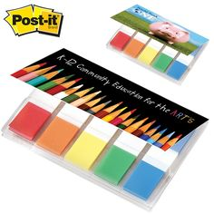NEW Promotional Post-it Mini 100 Sticky Flag Oragizer Pack | Customized Post-It Sticky Flags | Promotional Sticky Flags