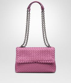 726b601860ce  Bottega Veneta® - SMALL OLIMPIA BAG IN PEONY INTRECCIATO NAPPA ‎