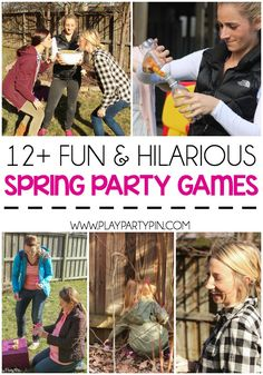 12 spring party games and Easter party games to keep your guests laughing all night long so fun and hilarious! Easter Games For Kids, Easter Party Games, Adult Party Games, Easter Activities, Birthday Party Games, Adult Games, Fun Games, Youth Activities, Group Games