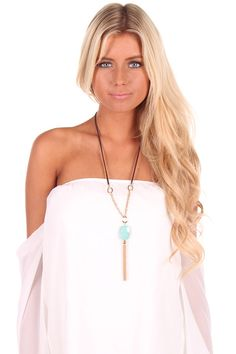 Lime Lush Boutique - Turquoise Stone Necklace, $28.99 (http://www.limelush.com/turquoise-stone-necklace/)