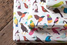 Nobrow – Tropical Birds Wrap (5 sheets)