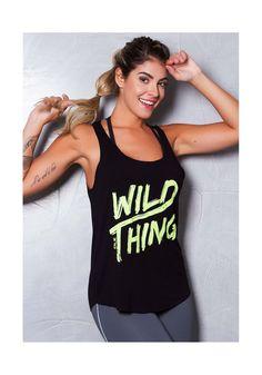 Compre DLK   Regata preta com silk wild thing por R 19 205bd2a53a737