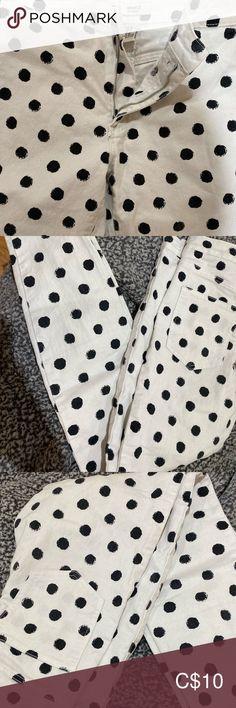 White polka dots high rise pants Forever 21 high rise pants Pants
