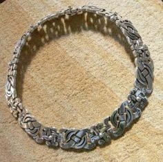 Modern Mexican silver necklace