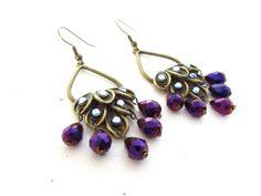 Peacock Chandelier earrings - $20