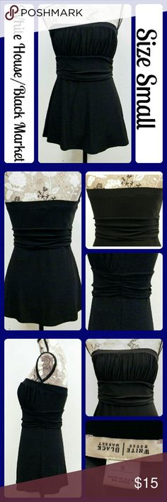 """Sz S White House Black Market Sleeveless Top Worn 1 Time, No rips, snags, or stains. Measurements are take flat and unstretched, Bust-16"""" across from underarm to underarm, Length- 19"""" from underarm to bottom hem. From a smoke-free home (T101) White House Black Market Tops Tank Tops"""