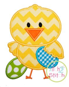 Easter Chick Boy Applique Design For Machine Embroidery  INSTANT DOWNLOAD now available on Etsy, $4.00