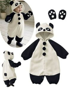 Full Baby Panda Jumpsuits with Gloves in 3 Sizes! Panda Costumes, Best Deals Online, Babys, Look, Minnie Mouse, Kids Fashion, Gloves, Dressing, Jumpsuit