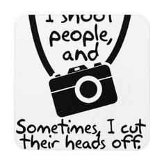 #Photographer  I Shoot People Beverage Coaster - #WeddingCoasters #Wedding #Coasters Wedding Coasters