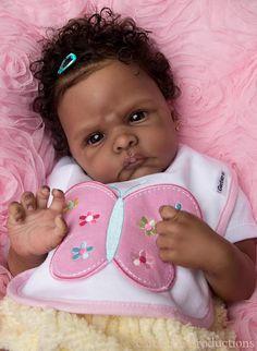 All Reborn Dolls | Vinyl Reborn Baby Doll Kit Winnie by Emily Jameson AA African American ...