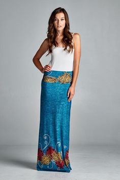 Capri Foundation Skirt to Dress in Blue Teal
