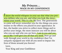 Walk in His confidence
