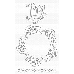 My Favorite Things JOYFUL WREATH Die-Namics MFT1608 Mft Stamps, Simon Says Stamp, My Scrapbook, Joyful, Notes, Printables, Wreaths, My Favorite Things, My Love