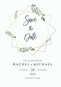 Foliage Save the Date, Instant Download, Greenery Foliage Wedding Shower, Couples Shower, Editable Template, DIY Digital, Wedding Printable Spring Wedding Invitations, Save The Date Invitations, Wedding Invitation Design, Save The Date Cards, Wedding Stationery, Gold Save The Dates, Wedding Save The Dates, Cena Show, Wedding Logo Design