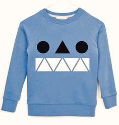 monster print sweatshirt