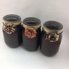 True Romance: Hand-painted  Mason Jars