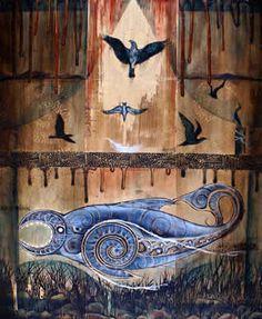 Art Gallery Fourteen Kokowai Artist Robin Slow, New Zealand Animal Paintings, Bird Paintings, Polynesian Art, New Zealand Art, Nz Art, Maori Art, Art Portfolio, Artist Painting, Art Gallery
