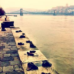 to the told to remove their shoes before being shot into the by the arrow cross militiamen in Cipők a Duna parton Budapest Hungary, Arrow, Sidewalk, Memories, Instagram Posts, Travel, Shoes, Dune, Memoirs