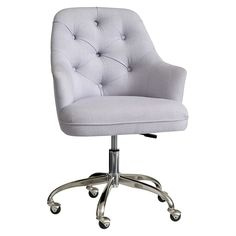 Tufted Desk Chair for desk in living room Tufted Desk Chair, Desk Chair Teen, Teen Desk, Desk Chairs, Desk Decor Teen, Desk Chair Comfy, Pink Desk Chair, Study Chairs, Computer Desk Chair