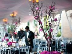 This is what perfection looks like! I would like to have the exact look of these manzanita (curly willow) branches as centerpieces, along with lilacs, perhaps a few fairy lights, and the hanging candles. SO pretty! Manzanita Tree Centerpieces, Manzanita Branches, White Branches, Crystal Centerpieces, Wedding Centerpieces, Wedding Decorations, Table Decorations, Wedding Ideas, Wedding Inspiration