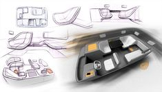 car interior sketch autonomous driving - Cerca con Google