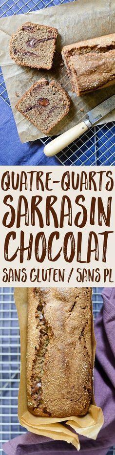 Une recette simple et détaillée pour un quatre-quarts sarrasin et chocolat sans gluten et sans produits laitiers, moelleux et savoureux !