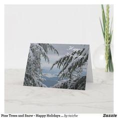 #HolidayCard #PineTrees and #Snow - #SeasonsGreetings #Fethiye #customgifts #ATSocialMediaUK #winter #scenic #winterwonderland #christmas #tree #landscape #turkish #smallislands #TekeBurun #TaneliBurun