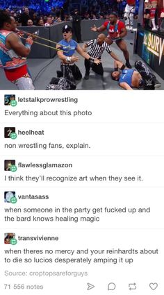 Wrestling Tumblr post