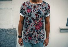 Tshirt flower blackribbon