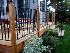 deck metal railing ideas | Iron Deck Railing Systems, Ideas, Designs, Styles & Options