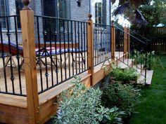 deck metal railing ideas | Iron Deck Railing Systems, Ideas, Designs, Styles  Options