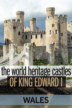 How Wales now cherishes castles built to conquer it! These four castles built by Edward I in Wales in the century are now a collective World Heritage Site. They are certainly the best castles to visit in Wales! Backpacking Europe, Europe Travel Guide, Europe Destinations, Sightseeing London, Castles In Wales, Welsh Castles, Castles To Visit, Visit Wales, All Nature