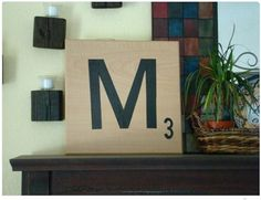 Love Scrabble so a tile with a H on it would fit right into my home. LOVE this idea for my game loving friends too.