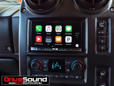 Hummer H2 with Apple CarPlay installed by DriveSound.