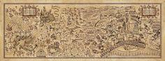 Poster Mapa Harry Potter Diseño Exclusivo 38 X 100 Cm - $ 350,00 en MercadoLibre