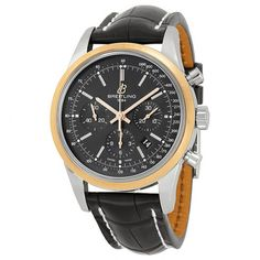 Breitling TransOcean Chrono Black Dial Brown Leather Men's Watch UB015212-BC74BKCT