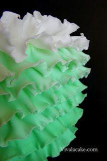Viva La Sugar Cake: Ruffles Ruffles And More Ruffles!!! tutorial: how to make fondant ruffles