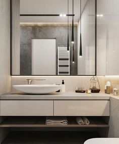 Large bathroom mirrors decorate the interior - Badezimmer - Large Bathroom Mirrors, Large Bathrooms, Small Bathroom, Bathroom Ideas, Bronze Bathroom, Bathroom Makeovers, Boho Bathroom, Large Mirrors, Bathroom Inspo